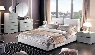 Nightstand Buffet Chest Of Drawers Dresser White Chrome Free Shipping
