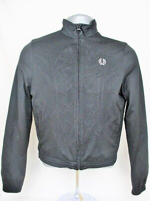 Women's Vintage Fred Perry Track Top. Size 12. Black.