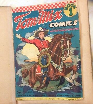 TOM MIX Comic #1,  Ralston Purina Giveaway,1941 Golden Age Western Comic
