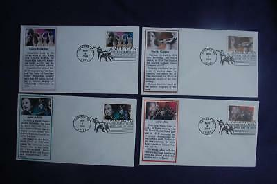 American Choreographers 37c Stamps 4 FDCs Maslow Sc#3840-43 08598 Alvin Alley
