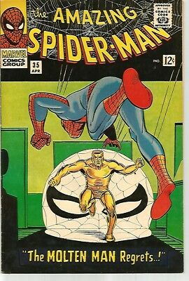 AMAZING SPIDER-MAN # 35    KILLER Comic    VF8.0 to VF8.5 SOLID!