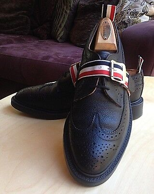 04f89bd88ef Like us on Facebook · Thom Browne Black Pebbled Leather Brogue Mens Shoes  Made In England Size Uk 6.5