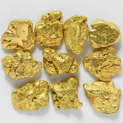 10 pcs Alaska Natural Placer Gold - Alaskan Gold - TVs Gold Rush (#G595-1)