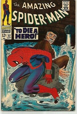 AMAZING SPIDER-MAN # 52    Beautiful Early Silver Age - FN/VF7.0