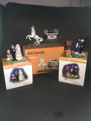 Set of 3 Department 56 Snow Village Halloween 2005, 2007 and 2014