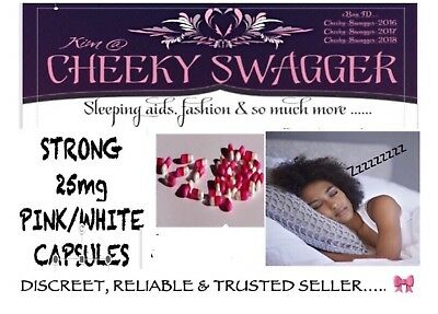 <25x Strong Sleeping Sleep Pills Tablets 25mg Caps Pink/white 🎀RELIABLE SELLER