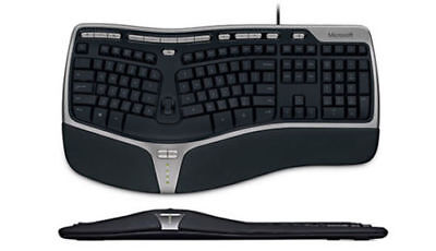 Microsoft Natural Ergonomic Keyboard 4000 Comfort Wired USB Membrane Black
