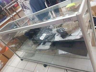 Glass Display Cabinet Counter, closing down second hands   L142, W 44, H 96