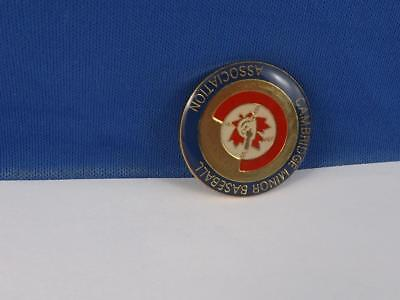 Cambridge Minor Baseball Association Pin Souvenir Collector Fan Collector