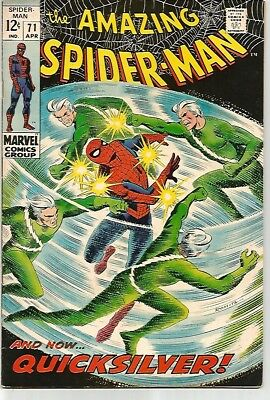 AMAZING SPIDER-MAN # 71   Silver Age QUICKSILVER Cover   FN6.5 to FN/VF7.0