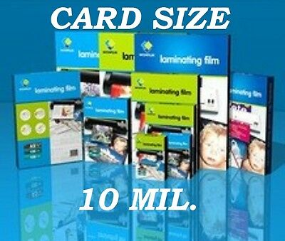 Ultra Clear Card size 25 PK 10 Mil Laminating Pouches Sheets 2-5/8 x 3-7/8   CQ
