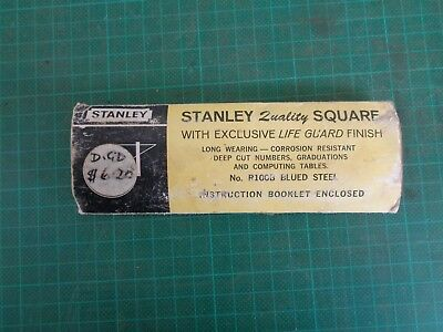 Vintage tool instructions STANLEY RAFTER SQUARE