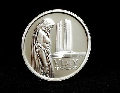 VIMY RIDGE: CANADIAN MINT LIMITED EDITION PROOF QUALITY 5c COIN WITH COA ~ 5428F