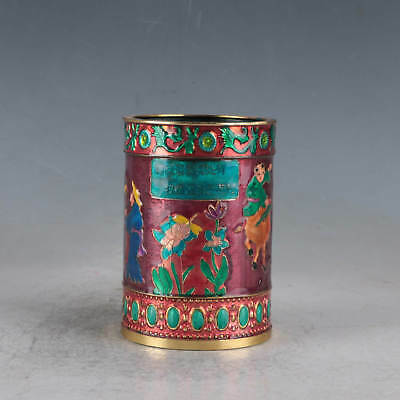 Chinese  Cloisonne Hand-made Brush Pots Made During The Qianlong Period JTL1033