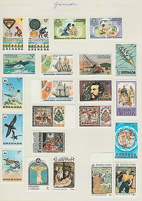 GRENADA Books, Birds, etc on Old Book Pages,As Per Scan, Removed to Send #