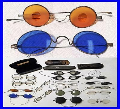 Coll. 21 Pcs. Early Spectacles Eye Glasses Some Great Examples  Eyeg-1 Heath Nr