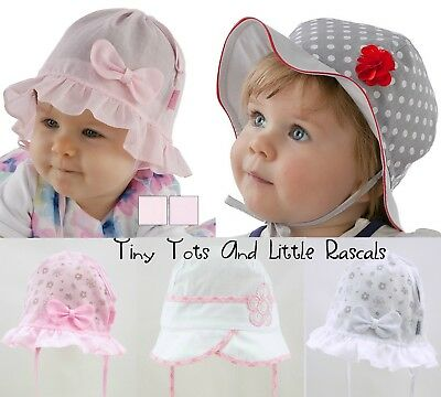 Baby Girl Toddler Soft Cotton Summer Sun Hat Cap Bonnet Outdoor Size 0 - 8 years