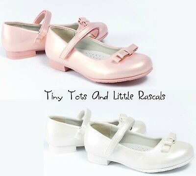 Girls Bridesmaid Flower Girl Wedding Occasion Ballerina Shimmer Shoes Pumps