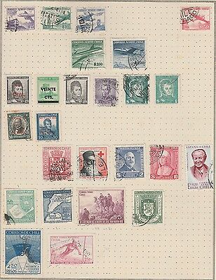 CHILE Red Cross, Planes etc on Old Album Page, As per Scan (Removed to Ship) #
