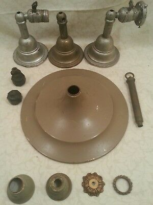 Vintage Brass Lot of Wall Sconces and Light Parts