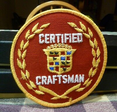Older Cadillac Certified Craftsman Embroidered Patch  *mint*