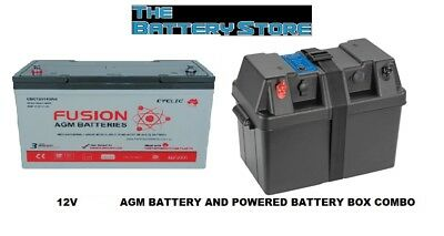 12V 105AH AMP HOUR AGM BATTERY DEEP CYCLE + PROJECTA POWER BOX 100ah