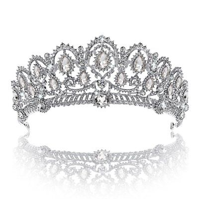 Crown, Tiara, YallFF Prom Queen Crown Quinceanera Pageant Crowns Princess Crown