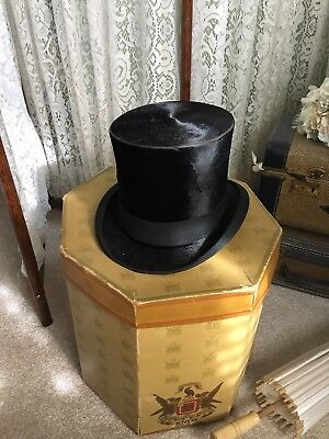Very Rare Antique Knox New York Top Hat Early 1900's with original box