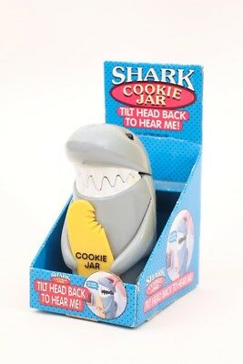 Shark Cookie Jar..plays Jaws theme..new in box