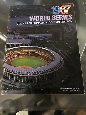 1967 World Series program, Cardinals vs Red Sox, great condition, unscored