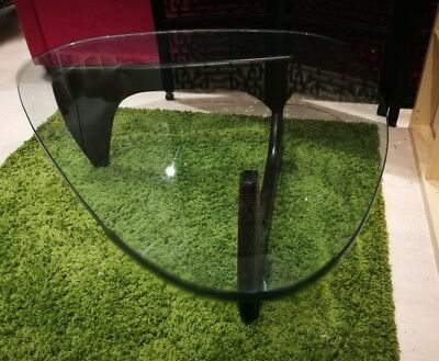 Noguchi Replica Coffee Table Excellent Near New Walnut Glass Melbourne Pickup