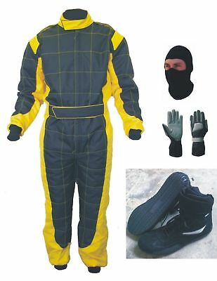 High-Quality-Cordura-Go-Kart-Race-Suit-Pack-Gloves-Shoe-with-free-Gift Balaclava