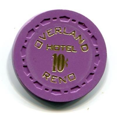 Reno Nv OVERLAND 10¢ Casino Chip small crown 1969 CR#N6762