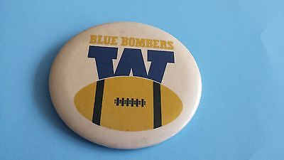 (A) Vintage Cfl Winnipeg Blue Bombers 3.25 Inches Button/pinback