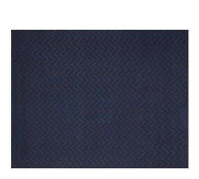 Pottery Barn Kids Mini Chevron Rug blue 100% wool 3 x 5 New hand woven Authentic