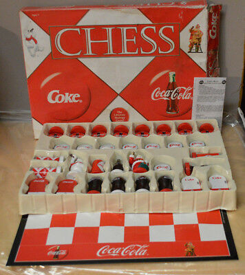 Collectible Coca Cola Chess Set with Clasic Coke Pieces
