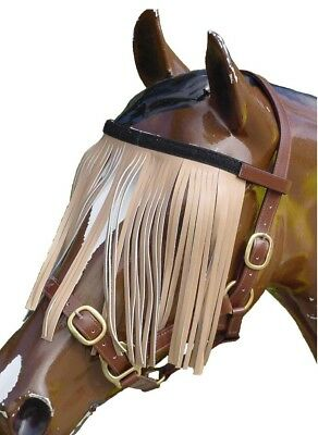 Horse/Pony Leather Fly Veil Instant Fit In Pony Cob Full & X-Full