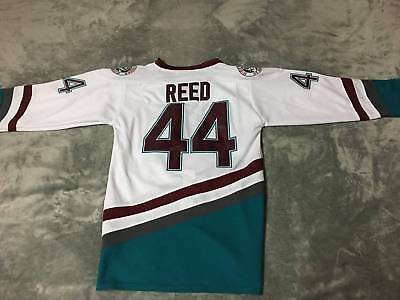 76f3d2248bb The Mighty Ducks Hockey Jersey 44 Fulton Reed Ice Hockey Jersey White S-3XL