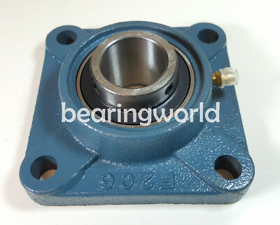 """NEW UCF205-15  High Quality 15/16"""" Set Screw Insert Bearing with 4-Bolt Flange"""