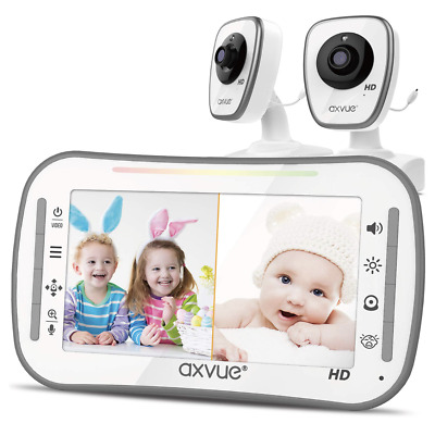 """Axvue E610 Video Baby Monitor with 4.3"""" LCD Screen and Night Vision, Upto 800'"""