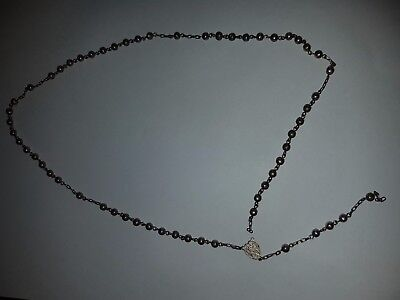 Vintage Rosary. Arts & Crafts Liberty Style. Marked 800.  Broken Chain.