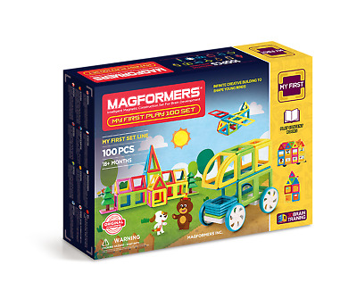 Genuine Authentic MAGFORMERS My First Play 100 pcs set 3D Magnetic building
