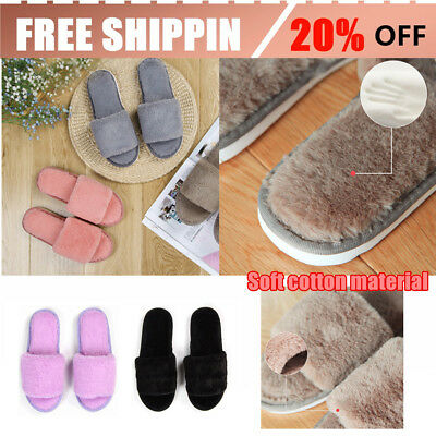 Autumn Winter Candy Color Anti-Slip Men Women Home Indoor Slippers Shoes NI