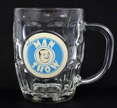 Luminarc USA The Man Show Logo Comedy Central Dimpled Clear Barrel Beer Mug