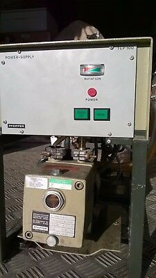 Pfeiffer TSU100 Turbo Molecular Vacuum Pump + roughing pump & TCP100 Controller