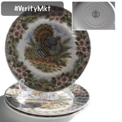 Mint Queens Myott Thanksgiving Turkey Dinner Plates Set Of 3