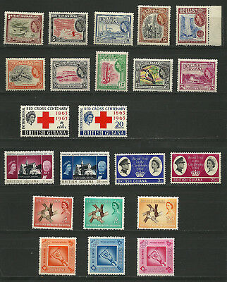 British Guiana QEII Mint Selection Mostly Never Hinged Original Gum