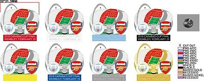 M.City v Arsenal - 2018 Carabao Cup Final Pin/Badge