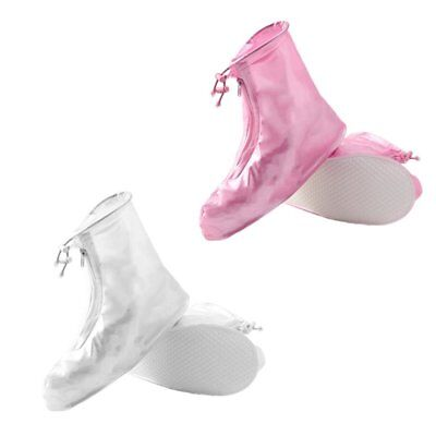 PVC Waterproof Shoe Covers Zipper Design Anti-slip Overshoes For Trav  NI