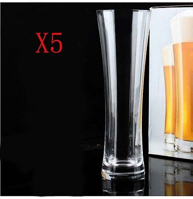 New 5X Capacity 300ML Height 217MM Transparent Large Beer Wine Glass/Glassware %